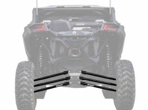UTV/ATV - UTV Radius Arms - SuperATV - Can-Am Maverick X3, 64 inch, Tubed Radius Arms Complete Kit (Black)