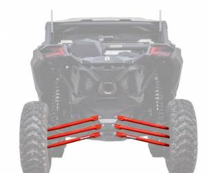 UTV/ATV - UTV Radius Arms - SuperATV - Can-Am Maverick X3, 64 inch, Tubed Radius Arms Complete Kit (Red)