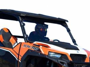 UTV Windshield - Full/ Vented Windshields - SuperATV - Polaris General Full Windshield, (Standard Polycarbonate) - Clear