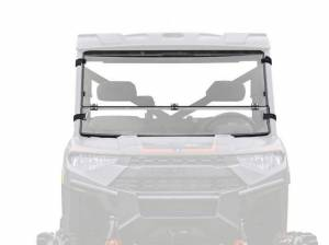 UTV Windshield - Flip Windshields - SuperATV - Polaris Ranger 1000 Diesel Flip Down Windshield (Scratch Resistant Polycarbonate) Clear