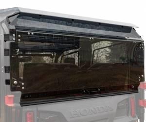 UTV Windshield - Rear Windshields - SuperATV - Honda Pioneer 1000-5, Rear Windshield, Standard Polycarbonate (Dark Tint)