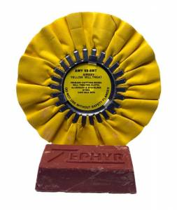 "Vehicle Care Products - Zephyr - Yellow Primary Cut 8"" Airway Buff with 1 lb. Tripoli Bar"