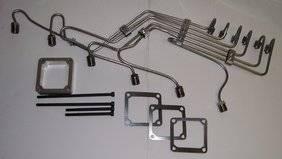 """Scheid Diesel - Scheid Diesel Pre-Bent Injection Line Kit, 24V Cummins with P Pump, 0.120"""" stainless steel"""
