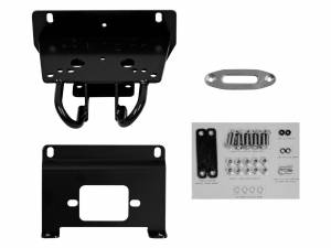 Winches - Winch Accessories & Parts - SuperATV - John Deere Gator RSX Winch Mounting Plate for 3500 lb. Winches  (For Factory Prerunner Bumper)