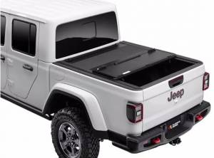 Bed Accessories - Bed/Tonneau Covers - Rugged Ridge - Rugged Ridge Armis Hard Folding Bed Cover with LINE-X, Jeep (2020) Gladiator JT