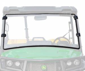 UTV Windshield - Full/ Vented Windshields - SuperATV - John Deere Gator XUV 835/865 Scratch Resistant Full Windshield