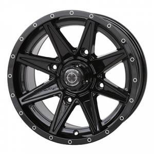 """UTV Tires/Wheels - Wheels - Frontline Tires - Frontline All Terrain 308, UTV Wheels - 14x7"""" wheel (4/110) 5+2 Offset, +10mm (Black)"""
