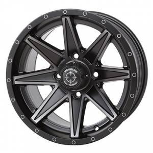 """UTV Tires/Wheels - Wheels - Frontline Tires - Frontline All Terrain 308, UTV Wheels - 14x7"""" wheel (4/110) 5+2 Offset, +10mm (Matte Tint)"""