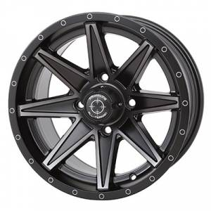 """UTV Tires/Wheels - Wheels - Frontline Tires - Frontline All Terrain 308, UTV Wheels - 14x7"""" wheel (4/156) 5+2 Offset, +10mm (Matte Tint)"""