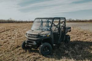 UTV Windshield - Full/ Vented Windshields - HighLifter - High Lifter, Windshield Can-Am Defender, Scratch Resistant (Vented,Not Tinted)