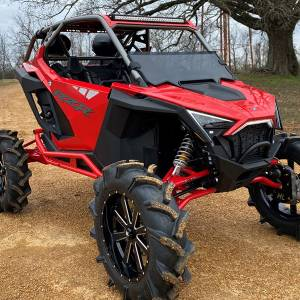 "HighLifter - High Lifter, Half Windshield Scratch Resistant, Polaris RZR PRO 2"" Taller, 2020 (Not Tinted)"