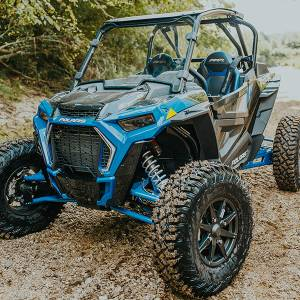 UTV Windshield - Full/ Vented Windshields - HighLifter - High Lifter, Windshield Scratch Resistant, Polaris RZR Turbo S, 2019-2020 (Not Tinted)