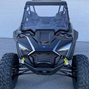 """UTV Windshield - Full/ Vented Windshields - HighLifter - High Lifter, Windshield Scratch Resistant, Polaris RZR Pro, 2020 (Not Tinted) """"Compatible With Poly Roof"""""""