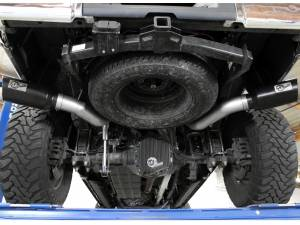 """aFe - aFe 4"""" DPF Back Dual Exhaust Kit, Ford (2015-16) 6.7L Power Stroke, T-409 Stainless (w/ Black Tips) - Image 2"""