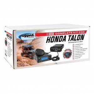 Rugged Radios - Rugged Radios Honda Talon, Complete UTV Communication System, With Alpha Audio Helmet Kits
