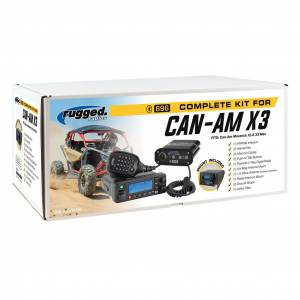 Rugged Radios - Rugged Radios Can-Am X3 Complete UTV Communication System with Top Mount and AlphaBAass Headsets
