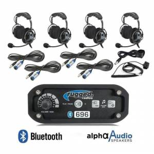 Electronic Accessories - VHF/UHF Radios - Rugged Radios - Rugged Radios RRP696 Person Bluetooth Intercom System with Behind the Head (OTH) Headsets
