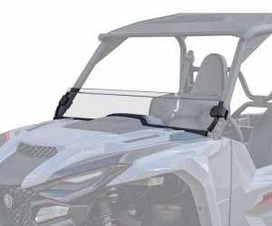 Yamaha Wolverine X4 Half Windshield, Standard Polycarbonate Clear, (2021)