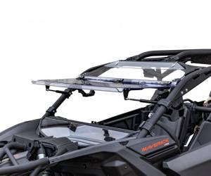 Can-Am Maverick X3 Flip Windshield (Scratch ResistantPolycarbonate) Clear