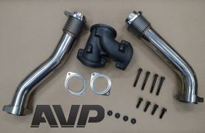 AVP - AVP Bellowed Stainless Up-Pipe Kit, Ford (1999.5-03) 7.3L Power Stroke - Image 5