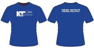 Apparel - KTP Youth Shirts - KT Performance Youth T-Shirt, Diesel Recruit, Blue (X-Small)