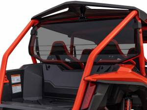 UTV Windshield - Rear Windshields - SuperATV - Honda Talon 1000X-4, Rear Windshield, Standard Polycarbonate- Dart Tint