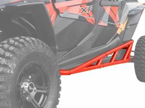 Polaris RZR XP Turbo Nerf Bars, 4 Seater (Red)