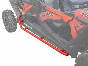 Polaris RZR XP 4 Turbo Rock Sliding Nerf Bars  (Red)