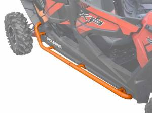 Polaris RZR XP 4 Turbo Rock Sliding Nerf Bars (Orange)