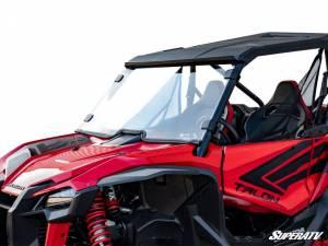 UTV Windshield - Full/ Vented Windshields - SuperATV - Honda Talon 1000, Full Windshield, Scratch Resistant Polycarbonate, (Clear)