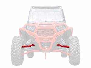 UTV Accessories - UTV Radius Arms - SuperATV - Polaris RZR XP 1000 High Clearance Upper A-Arms, Non Adjustable with Standard Duty Ball Joints (Red)