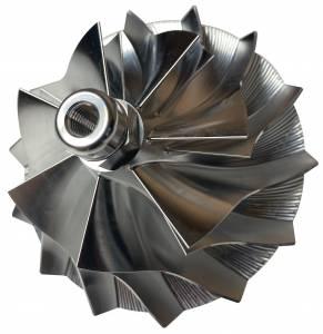 Turbos/Superchargers & Parts - Turbo Parts - AVP - AVP Billet Turbo Compressor Wheel, Ford (1994-03) 7.3L, TP38 & GTP38 Garrett Turbos, Stage 1 (7+7 Blade)