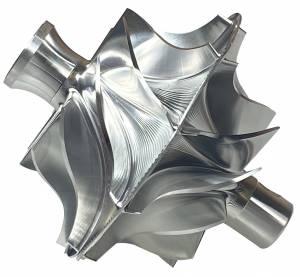 Turbos/Superchargers & Parts - Turbo Parts - AVP - AVP Boost MasterQuick Spool BilletCompressor Wheel Ford (2011-14) 6.7L Power Stroke F-250/F-350 (Twin Blade)