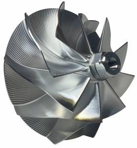 Turbos/Superchargers & Parts - Turbo Parts - AVP - AVP Billet Turbo Compressor Wheel, Ford (1994-03) 7.3L, TP38 & GTP38 Garrett Turbos, Stage 1.5 (9 Blade)