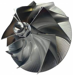 Turbos/Superchargers & Parts - Turbo Parts - AVP - AVP Boost Master Quick Spool Billet Compressor Wheel, Ford (1994-03) 7.3L, TP38 & GTP38 Garrett Turbos (5+5 Blade)