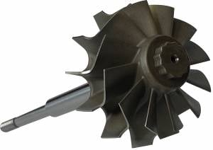 Turbos/Superchargers & Parts - Turbo Parts - AVP - AVP Turbine Wheel & Shaft, Holset HX35/HX35W/HY35/H1C Turbos