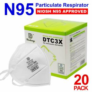 Tools - Specialty Tools - Dasheng DTC3X N95 Face Mask Protective Disposable Respirator, Box of 20 ($1.50 each)