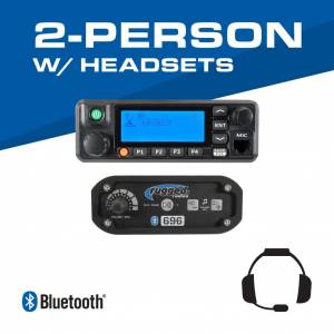 Rugged Radios 2-Person - 696 Complete Communication System - with Behind the Head Ultimate Headsets