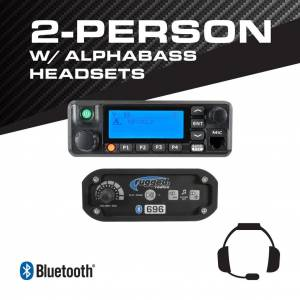 Rugged Radios 2-Person - 696 Complete Communication System - with ALPHA BASS Headsets