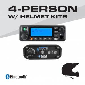 Rugged Radios 4-Person - 696 Complete Communication System - with Helmet Kits