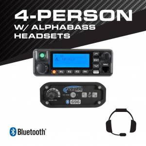 Rugged Radios 4-Person - 696 Complete Communication System - with ALPHA BASS