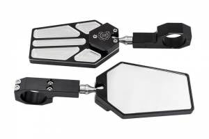 """Deviant Race Parts, Billet Side Mirrors for 1.75"""" to 2.00"""" Tubes"""