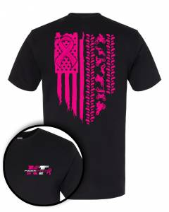 Apparel - Breast Cancer Awareness T-Shirts - Breast Cancer Awareness, KT Powersports T-Shirt (Large)