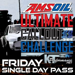 Gift Certificates - Ultimate Callout Challenge 2022 Tickets - Ultimate Callout Challenge 2022, 1 Day Pass (Friday June 3rd)