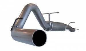 "Exhaust - 4"" Cat/DPF Back Dual Exit Exhaust - aFe - AFE 4"" Cat Back Exhaust, Ford (2003-07) 6.0L Power Stroke Aluminized"