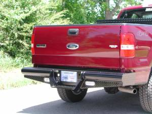 "Brush Guards & Bumpers - Rear Bumpers - Ranch Hand - Ranch Hand Legend Rear Bumper, Ford (1981-96) F150/F250/F350, 8"" w/skirts, 5/5, FR"