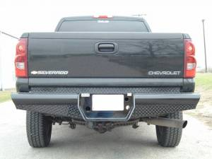 "Brush Guards & Bumpers - Rear Bumpers - Ranch Hand - Ranch Hand Legend Rear Bumper, Chevy/GMC (2001-07) 2500HD Classic, 10"" w/skirts/lights, 1/10, FR"