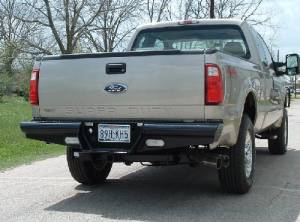 "Brush Guards & Bumpers - Rear Bumpers - Ranch Hand - Ranch Hand Legend Rear Bumper, Ford SD (2008-13) F250/F350, 10"" w/skirts/lights, 1/10, FR, Sensors"
