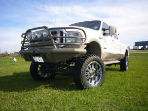 Tough Country - Tough Country Custom Deluxe Front Bumper, Ford (2005-07) F-250, F-350, F-450, F-550 & (05) Excursion