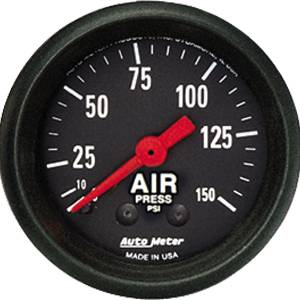 "2-1/16"" Gauges - Auto Meter Z-Series - Autometer - Auto Meter Z-Series, Air Pressure 150psi (Mechanical)"